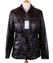 AQUASCUTUM Black QUILTED Short Belted Jacket MEDIUM rrp £595 BNWT